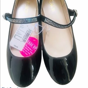 CHILDREN'S PLACE | Black Flats with Studded Strap